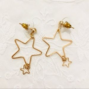 no Jewelry - New Gold / Silver Tone Stars Earrings